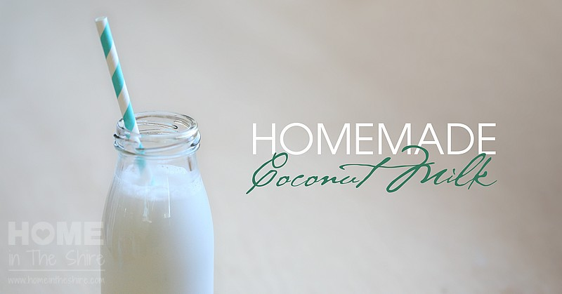 Homemade Coconut Milk – Healthier and More Cost Effective!