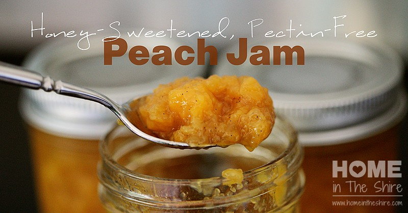 Peach Freezer Jam (Honey-Sweetened and Pectin-Free!)