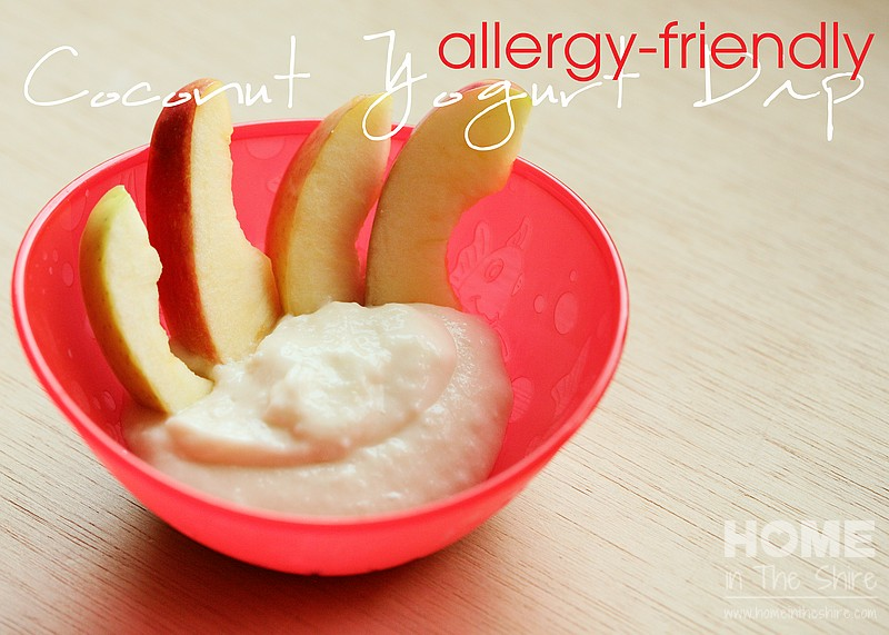 Allergy Friendly Toddler Snack – Apples w/Sweet Yogurt Dip